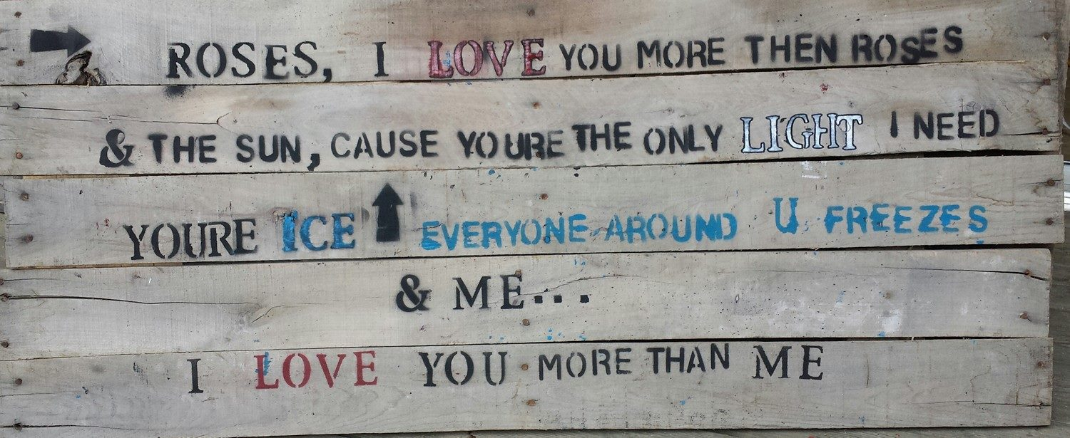 I Love You More Than Poems: Poetry + Wood: I Love You More Than Me