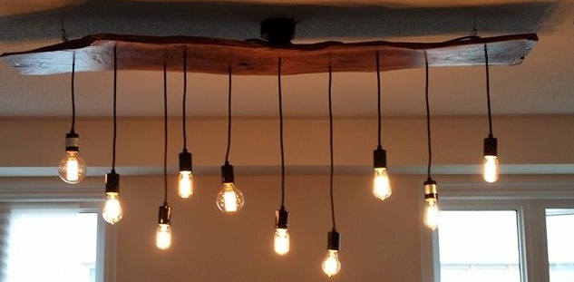 Structure Reclaimed Wood Dining Room Light Fixture